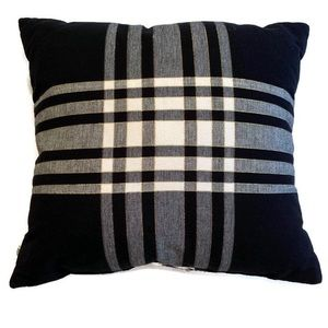 Hearth & Hand Accents - Hearth and Home Pillow Black and Plaid